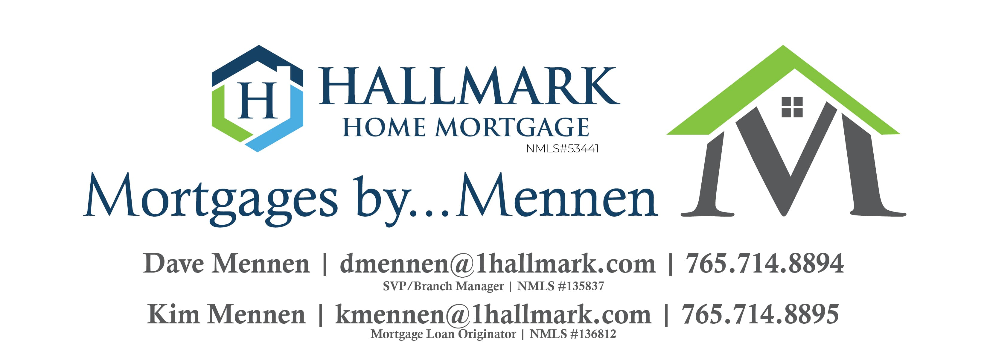Hallmark Home Mortgage - Mortgages by Mennen Logo